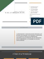 TRABAJO FACTORIZACION PDF
