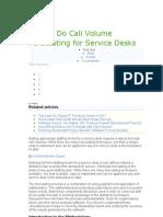 How to Do Call Volume Forecasting for Service Desks