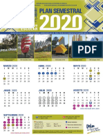 Calendario Semestral 2019-2020 de la UNAM