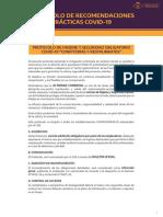 Protocolo para Gastronómicos