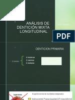 Analisis de denticion mixta longitudinal