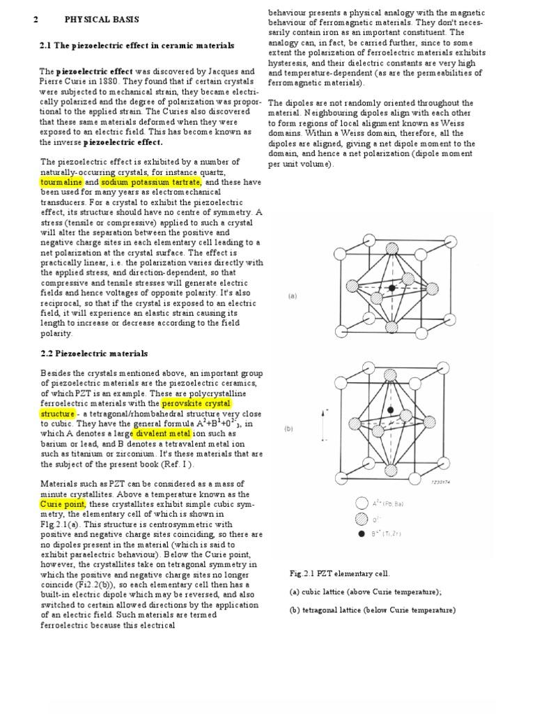 Capacitor Dielectric And Piezoelectric Ceramics Manual Guide