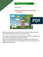 Francisco de Asís patrono de la naturaleza (1)