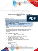 Activities guide and evaluation rubric - Unit 1 - Task 2 - Writing Production