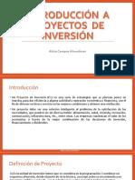 Introducción a Proyectos de Inversión