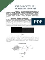 1.- ANÁLISIS DE CIRCUITOS DE CORRIENTE ALTERNA SENOIDAL  1