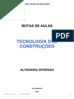 TECNOLOGIA DAS CONSTRUÇÕES