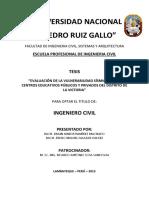 IC-2013-103 VULNERABILIDAD SISMICA CENTROS EDUCATIVOS LA VICTORIA - CHICLAYO.pdf