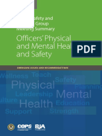 Officers' Physical and Mental Health and Safety
