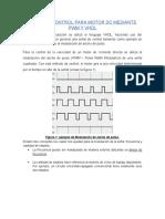 SEÑAL DE CONTROL PARA MOTOR DC MEDIANTE PWM Y VHDL