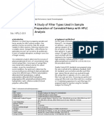 A Study of Filter Types Used in Sample Preparation of Cannabis_Hemp with HPLC Analysis