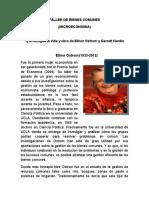 TALLER DE BIENES COMUNES