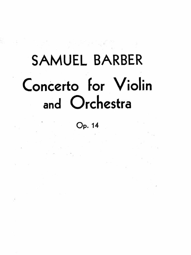 Barber Violin