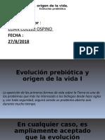 Evolución prebiótica y origen de la vida I.odp