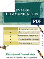 level and modes of communication