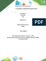 METODOLOGIA DE LA INVESTIGACIÓN, formulación del problema.