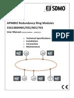 APM802 - User Manual Redundancy Ring Modules_MAN31613604401_501_601_701_EN