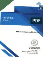 DVJ - INFORME FINAL N° 552-18 SUBSECRETARIA DEL INTERIOR AUDITORIA SOBRE TRANSFERENCIAS A LA JUNTA NACIONAL DE CUERPOS DE BOMBEROS - ENERO 2019