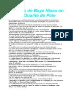 Propos de Baye Niass en sa Qualité de Pole