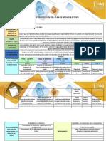 Matriz de proyección del plan de vida colectivo del agua