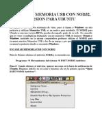 Manual para escanear con NOD32 Memoria USB en Ubuntu