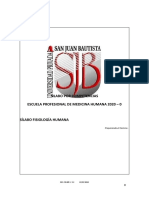 FISIOLOGIA SILABO FISIOLOGIA HUMANA 2020-0