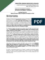 Modelo de Testamento Ológrafo - Autor José María Pacori Cari