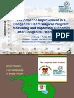 performance improvement in congenital heart surgery