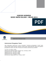 PPT Minggu-6 (1) hukum Agraria Mahruf (1)(1) (1)