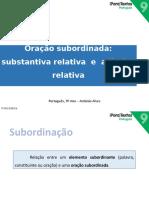 orações subordinadas substantivas e adjetivas.pptx