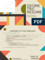 Geometric Resume by Slidesgo