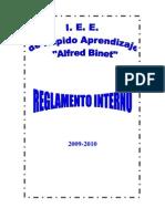 REGLAMENTO INTERNO BINET -2009-2010