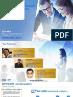 S4 HANA Embedded Analytics 1610 Innovations_V1.1 2