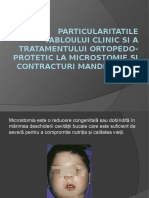 Tratamentul ortopedo-protetic la microstomie și contracturi mandibulare