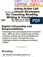 Teaching reading strategies and Digital Contexts