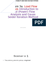 Lecture 3a. Introduction to Load Flow Analysis and Gauss Seidel