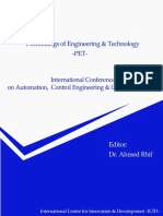 International Conference on Automation, Control Engineering & Computer Science