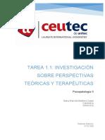 Tarea 1.1 Investigación sobre Perspectivas teóricas y terapéuticas