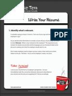 6 - Write Your Résumé 51-60