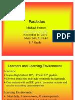 Parabolas Unit