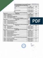 Mid Term- II schedule July - Dec'2019