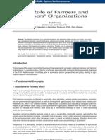 The Role of Farmers and Farmers' Organizations- Rashid Pertev