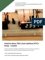 Arduino Nano 7SEG clock (whitout RTC)+ temp. + humid - Arduino Project Hub