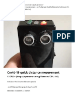 Covid-19 quick distance mesurement - Arduino Project Hub