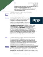 G7M-0815-00 - OFF-LINE MAINTENANCE PROCEDURE FOR LOW VOLTAGE DISTRIBUTION PANELS