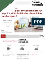 Rapport Ifop pour Darwin - Nutrition sur les habitudes alimentaires pendant le confinement