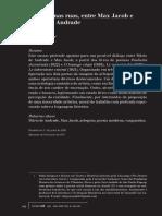 Deslizar nas ruas, entre Mário de Andrade e Max Jacob (Revista do IEB)