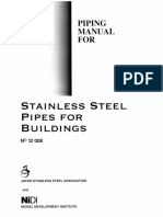 Piping Manual for Stainless Steel Pipe for Building