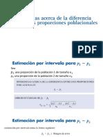 PRUEBA DE HIPOTESIS DIFERENCIA PROPORCIONES Y COCIENTE DE VARIANZAS