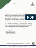 Carta del padre Ángel a los líderes políticos y sociales